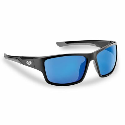 FLYING FISHERMAN SAND BANK MATTE BLACK  SMOKE - BLUE MIRROR