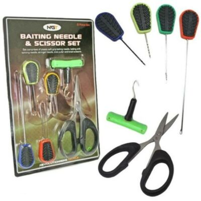 NGT BAITING NEEDLE AND SCISOR SET