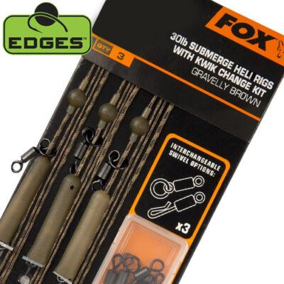 FOX EDGES SUBMERGE HELI RIGS W KWIK CHANGE KIT 30LB BROWN