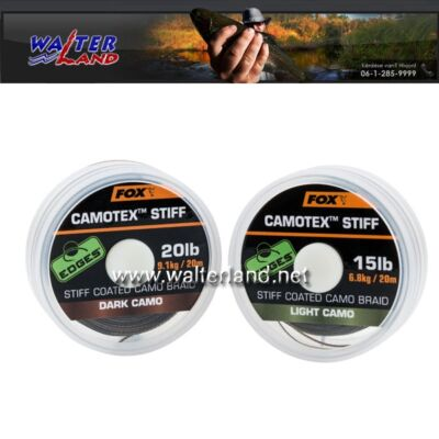FOX CAMOTEX  STIFF DARK CAMO 20LB 20M