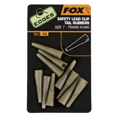 FOX EDGES SAFETY LEAD CLIP TAIL RUBBERS KHAKI
