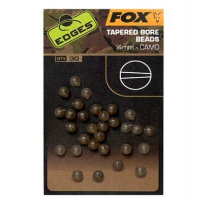 FOX EDGES CAMO TAPERED BORE BEADS 4MM