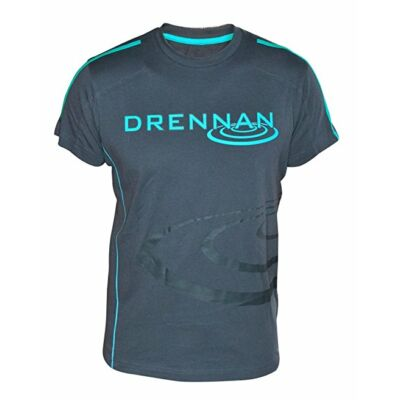 DRENNAN T-SHIRT - NAVY & AQUA