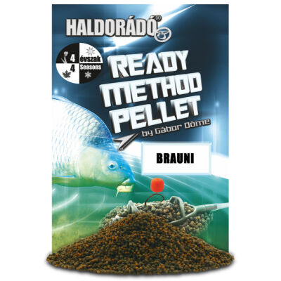 HALDORÁDÓ READY METHOD PELLET 400G - BRAUNI