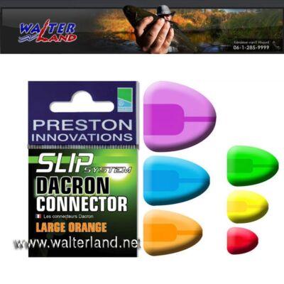 PRESTON DACRON CONNECTOR-LARGE ORANGE