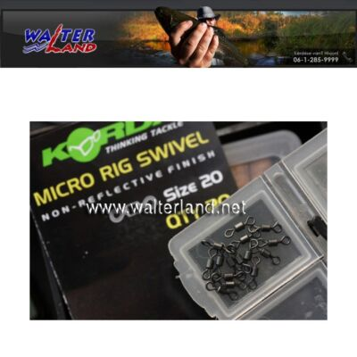 KORDA NEW - Korda Micro Rig Swivel - Pack of 20