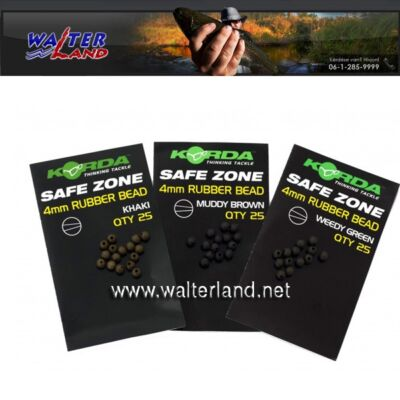 Korda safe zone 4mm rubber bead weedy green